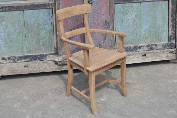 Teak stuhl mit armlehne berlin for Stuhl design berlin