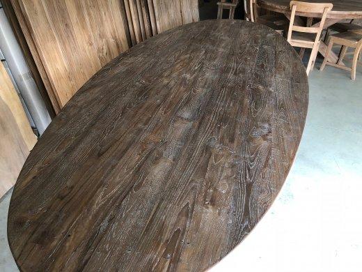 Teak Tisch oval 300x120cm Cross - Bild 11