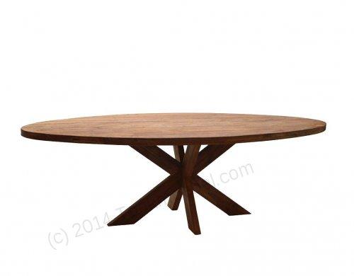 Teak Tisch oval 300x120cm Cross - Bild 12