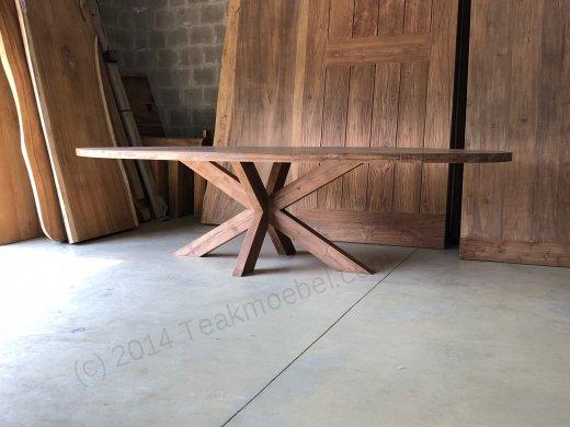 Teak Tisch oval 300x120cm Cross - Bild 4
