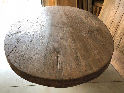 Teak Tisch oval 300x120cm Cross - Bild 7