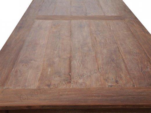 Teak Tisch altes Holz 320 x 120 cm - Bild 5