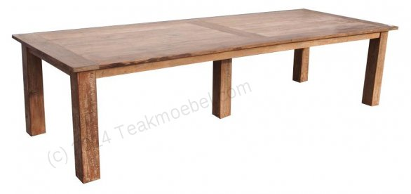 Teak Tisch altes Holz 320 x 120 cm - Bild 1