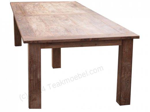 Teak Tisch altes Holz 320 x 120 cm - Bild 0