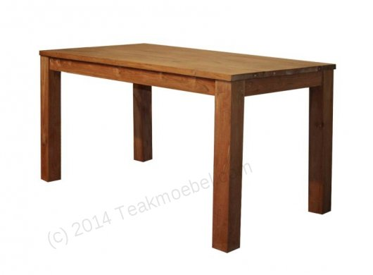 Teak Tisch 120 x 80 cm - Bild 0