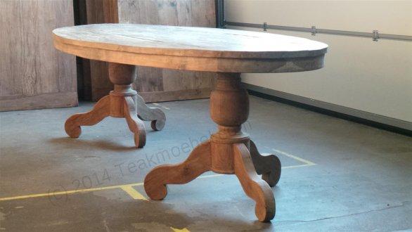 Teak Tisch oval 240x120cm - Bild 1