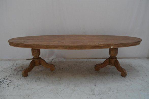 Teak Tisch oval 300x120cm - Bild 10