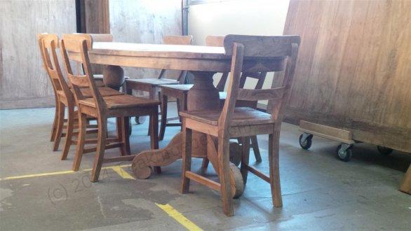 Teak Tisch oval 300x120cm + 8 Stühle - Bild 0