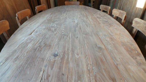 Teak Tisch oval 300x120cm + 8 Stühle - Bild 3