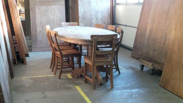 Teak Tisch oval 300x120cm + 8 Stühle - Bild 4