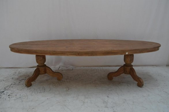 Teak Tisch oval 300x120cm + 8 Stühle - Bild 5