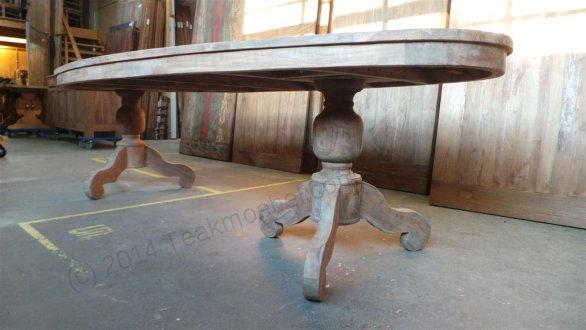 Teak Tisch oval 300x120cm + 8 Stühle - Bild 10