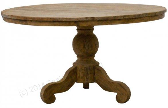 Teak Tisch rund Ø 130 cm altes Holz   - Bild 0