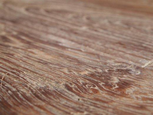Teak Tisch rund Ø 110 cm altes Holz   - Bild 1