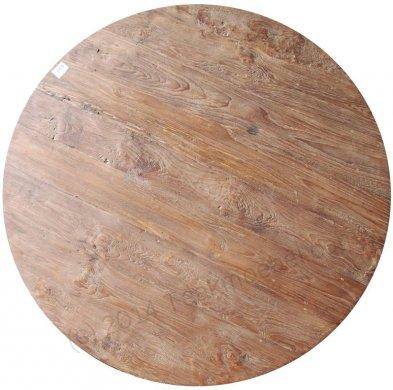 Teak Tisch rund Ø 110 cm altes Holz   - Bild 3