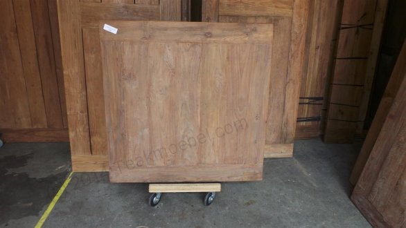 Old Teak Esstisch quadratisch 120x120 - Bild 0