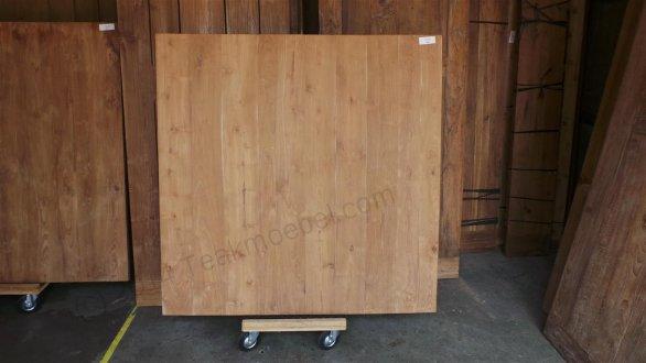 Teak Esstisch quadratisch 150x150 - Bild 1