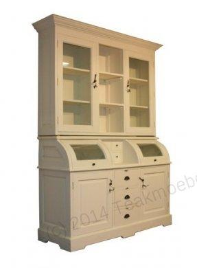 White-Wash Schrank 160cm runde Klappen - Bild 1