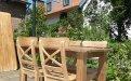 Teak Tisch aus altem Holz 120 x 80 cm - Bild 3