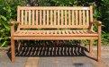 Teak Holz Gartenbank 150 cm Beaufort   Teakmöbel.com