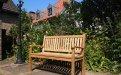 Teak Holz  Gartenbank 130 cm Beaufort - Bild 5