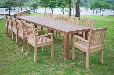 Gartentisch 400cm mit 12 Beaufort Stühle