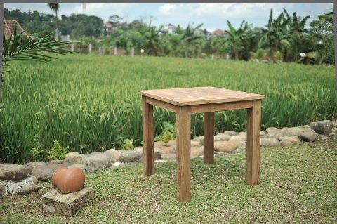 Teak Gartentisch 80 x 80 cm