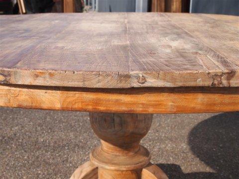 Teak Tisch rund Ø 150 cm altes Holz