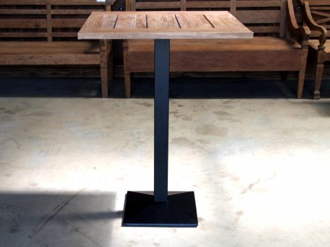 Teakholz Bistro Stehtisch 80x70cm