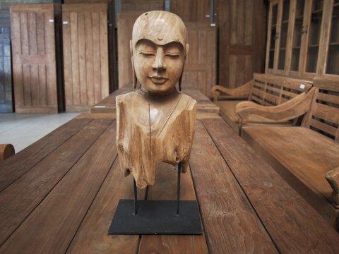 Teakholz Buddha