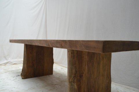 Teakholz Baumstamm Tisch 180
