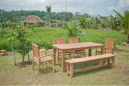teak gartentisch 180 x 90 cm teakm. Black Bedroom Furniture Sets. Home Design Ideas
