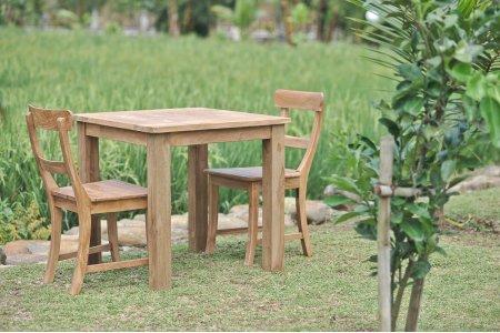 Gartentisch 80x80cm mit 2 Stühle