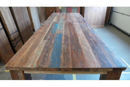 Holztisch aus alten Fischerbooten 300cm