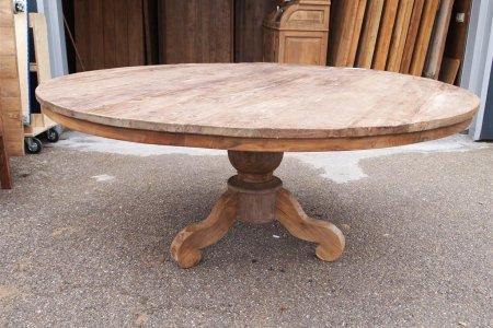 Teak Tisch rund Ø 180 cm altes Holz