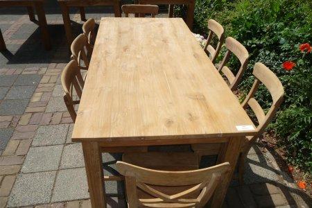 Teak Tisch mit Schubladen 200 x 100 cm