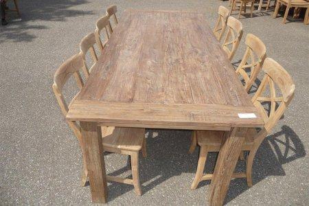 Teak Tisch altes Holz 240 x 100 cm