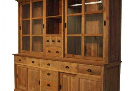 Teak Ladenschrank 245x45-55x225cm mit Leisten