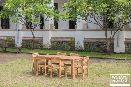 Gartentisch 200x100 + 6 Stühle Bali