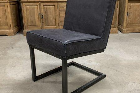 Leder Stuhl Carbon Black