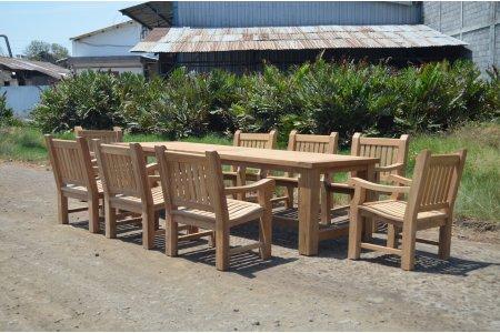 Gartentisch Mammut 300cm mit 8 Mammut Gartenstühle