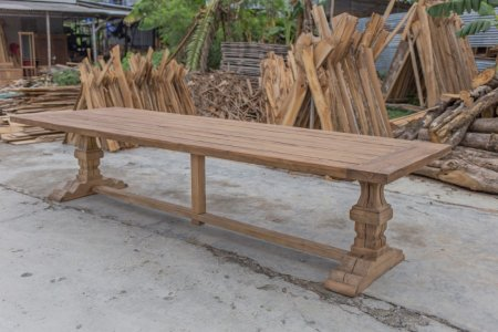 Outdoor Teak Klostertisch 350x120