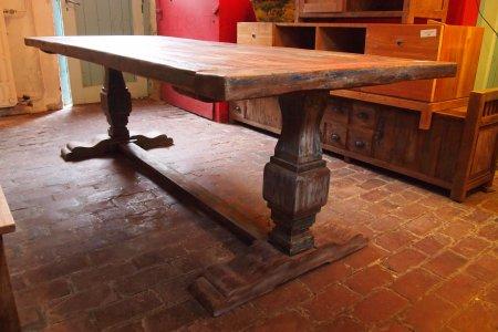 Teak Klostertisch mit Farbresten 240x100cm