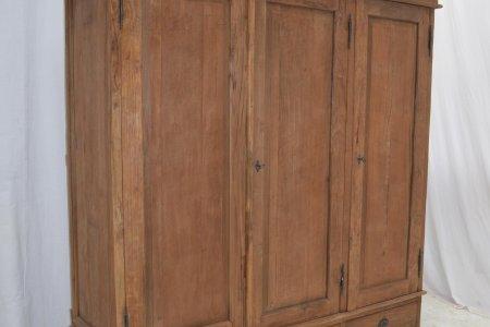 Teak Schrank 3-Türen Rustikal