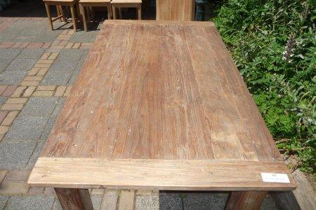 Teak Tisch aus altem Holz 140 x 90 cm
