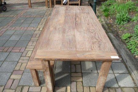 Teak Tisch aus altem Holz 220 x 100 cm