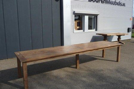 Teak Tisch altes Holz 400 x 100 cm
