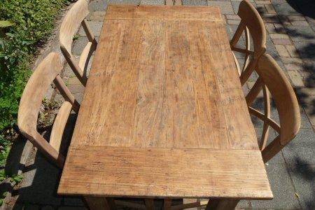 Teak Tisch aus altem Holz 120 x 80 cm