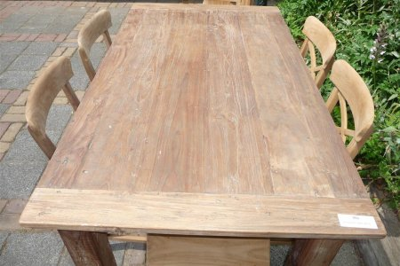 Teak Tisch aus altem Holz 160 x 90 cm