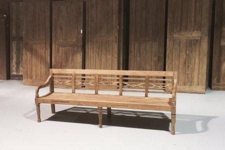 Teak Holz Bahnhofbank 240cm